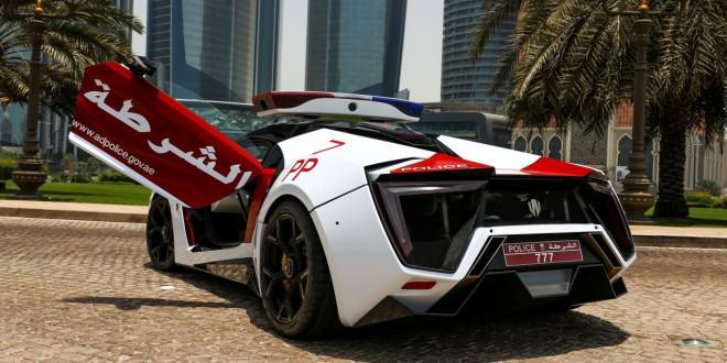 W Motors Lykan Hypersport полиция Абу-Даби