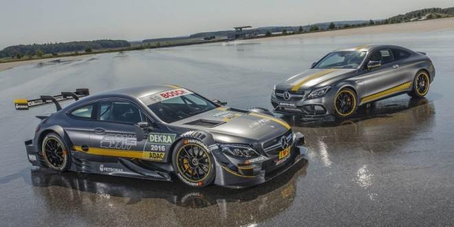 2017 Mercedes-AMG C63 Coupe Edition 1 и 2016 C63 DTM гоночный спорткар