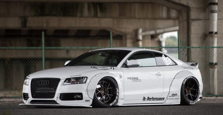 Liberty Walk Audi A5 Widebody тюнинг